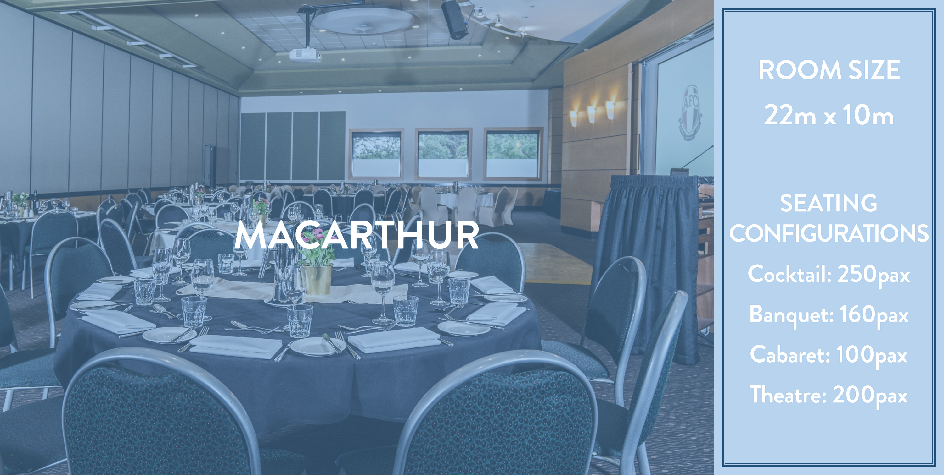Ainslie Football Club Functions - Macarthur Room