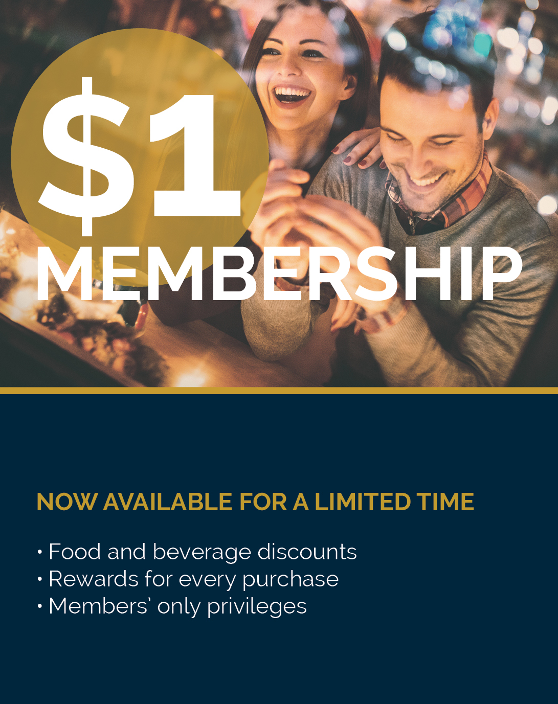 $1 Membership Limited Time Only