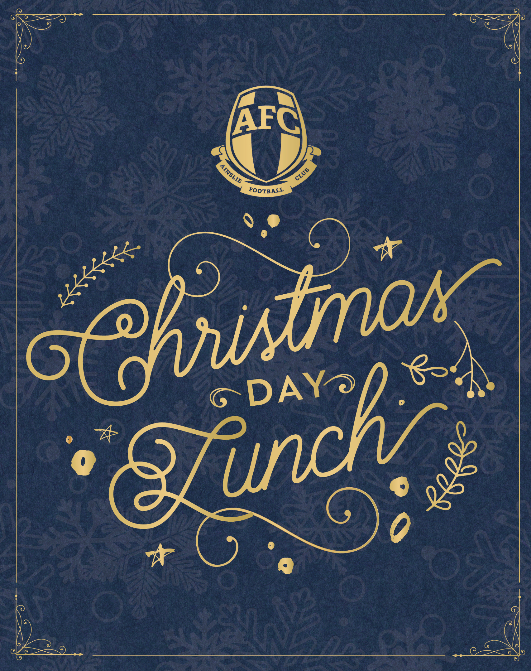Book Christmas Day Lunch at Ainslie