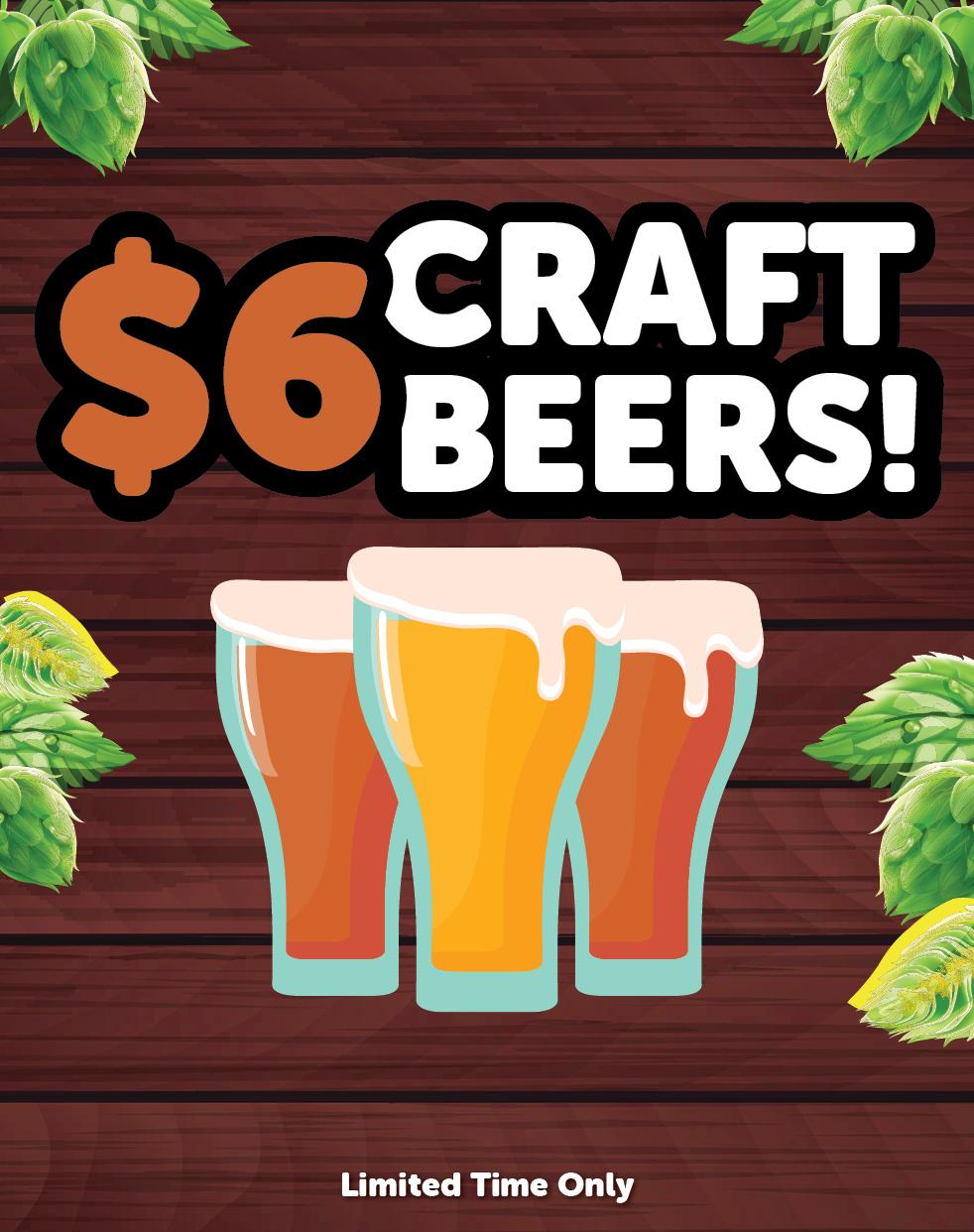 $6 Craft Beers