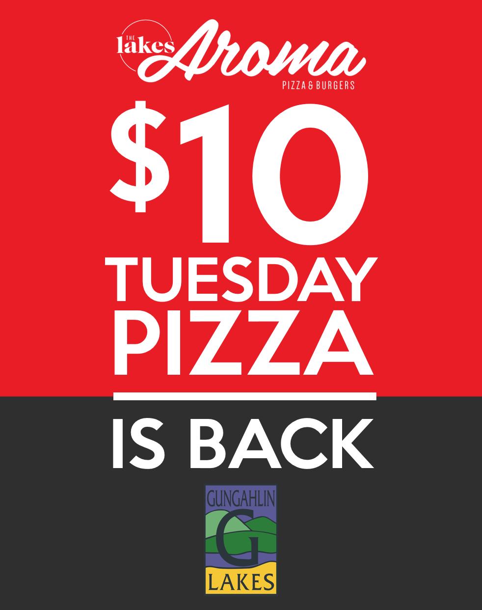 Tuesday pizza at Gungahlin Lakes