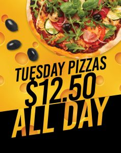$12.50 Pizzas at The Lakes