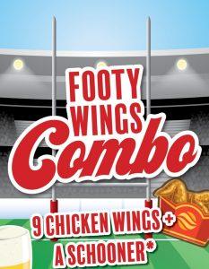 Footy wings combo