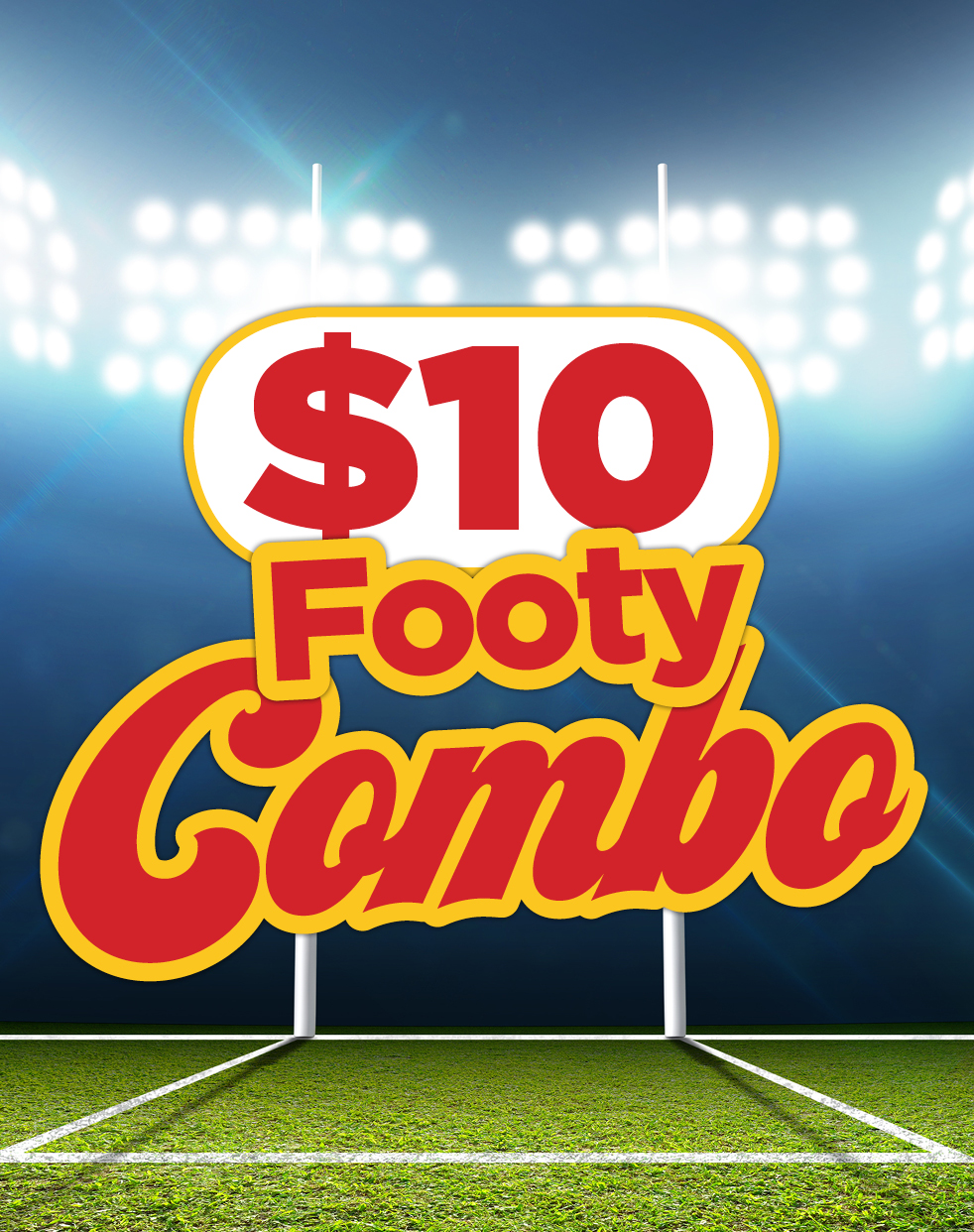 Ainslie $10 Footy Combo