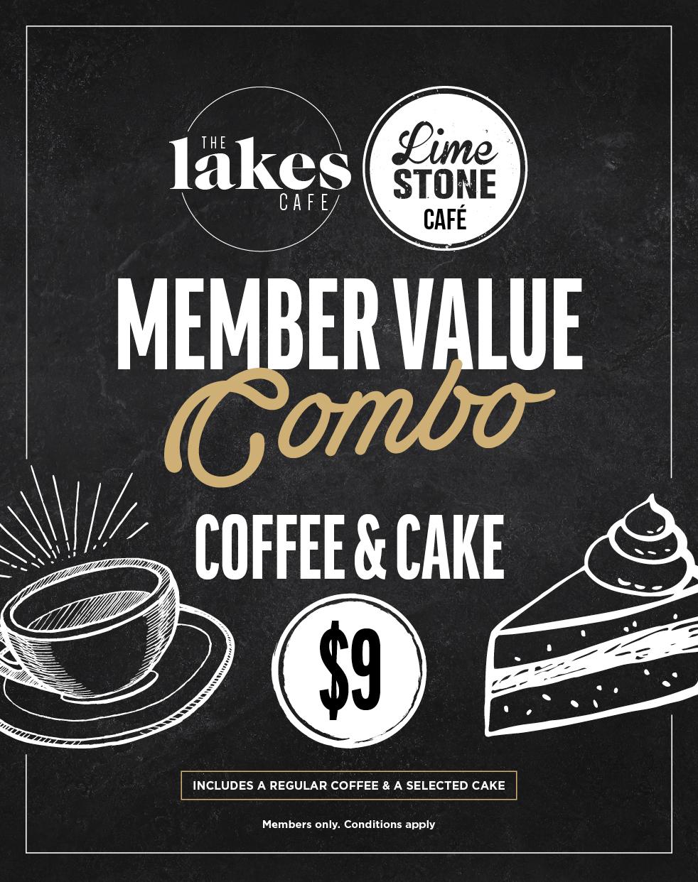 $9 Coffee & Cake Combo